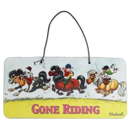 "Thelwell Deur Bordje ""Gone Riding"""