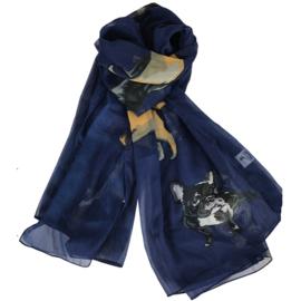 Sjaal Honden - Navy