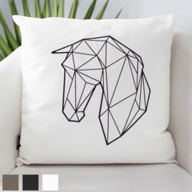 """Paardenkussen """"Geometric"""" - Wit"""