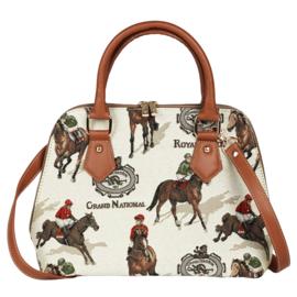 Handtas Race Paarden Gobelin