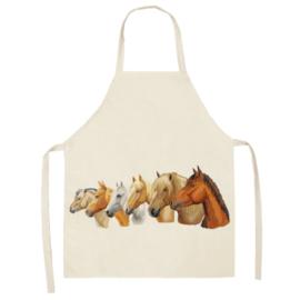 Keukenschort Paardenhoofden Zijkant