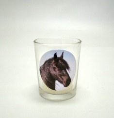 Sfeerlichtglas Met Kaarsje Fries Paard