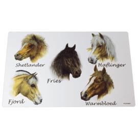 Placemat Paardenrassen