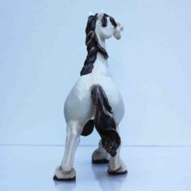 Komisch paardenbeeld één been hoog
