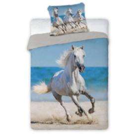 Dekbedovertrek Wit Paard Strand