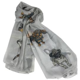 Sjaal Honden - Licht Grijs
