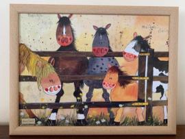 Schootkussen Alex Clark Paarden