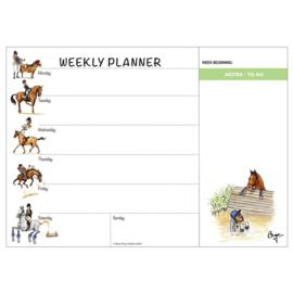 Weekplanner Paard Bryn Parry