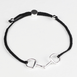 Armband Bit Friendship - Zwart/Zilver