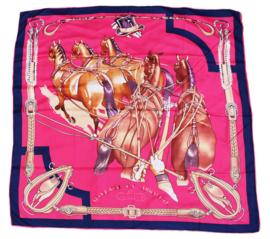 Sjaal Ingespannen Paarden - Roze