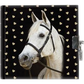 Dagboek Wit Paard Inclusief Slotje