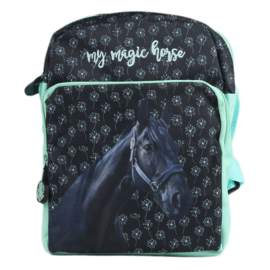 Schoudertasje `My Magic Horse` Zwart Paard