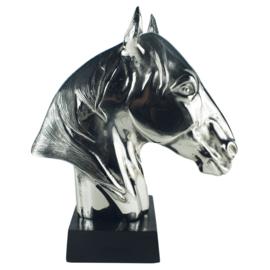 """""""Neptune"""" Beeld Paardenhoofd - Aluminium Nikkel"""