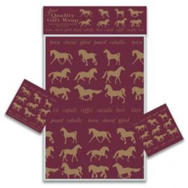 Paarden Cadeaupapier 2 vellen