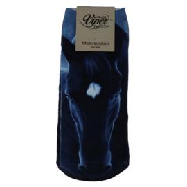 Sokken Zwart Paard - Blauw