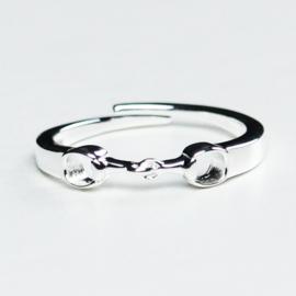 Paarden Ring Trensbit Zilver