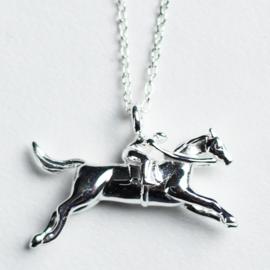 Ketting Race Paard Zilver