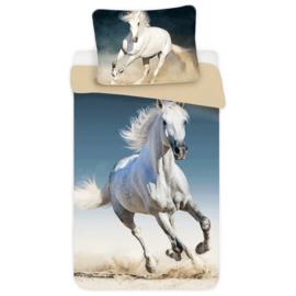 Dekbedovertrek Wit Paard Éénpersoons