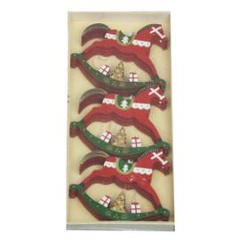 Kerstboomhanger Hobbelpaard Rood