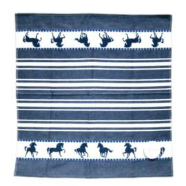 Paarden Theedoek - Blauw