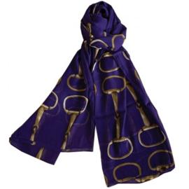 Sjaal Trensbitten Paard - Aubergine