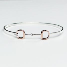 Armband Trensbit Zilver Rosé Goud