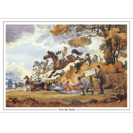 """Over The Sticks"" - Thelwell  Kaart"