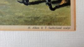 Engels prent paardenrace.