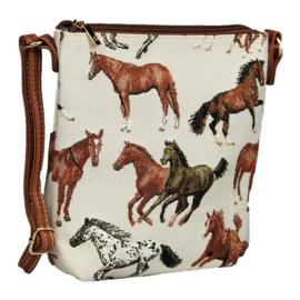 Schoudertas Smal Rennende Paarden