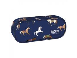 Etui Paarden Blauw Back Up