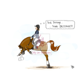 """Think Dressage"" Kaart - Emily Cole"