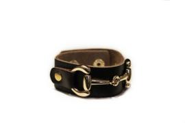 Armband met bit bruin