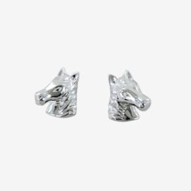 Oorknopjes Paardenhoofd Zilver