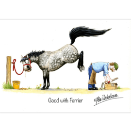 """Good With Farrier"" Alex Underdown Kaart"