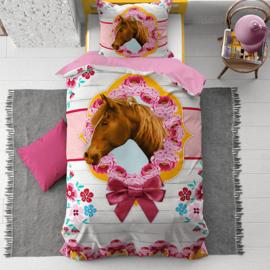 Dekbedovertrek Cute Paard Roze -135x200