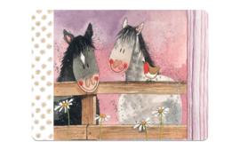 Placemat Paarden Alex Clark 1 stuks