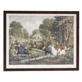Engels jachttafereel 19e eeuw