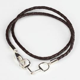 Wikkel Armband Leer Bit - Bruin