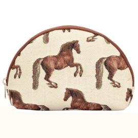 Gobelin Make-up Tasje Paarden