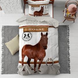 Dekbedovertrek Paard Bruin 135x200