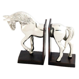 Boekensteun paard zilver-nikkel plated