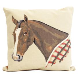 Gobelin Kussen Bruin Paard