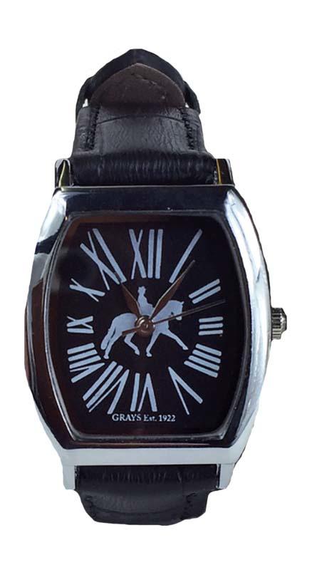 Horloge Dressuurpaard Zwart