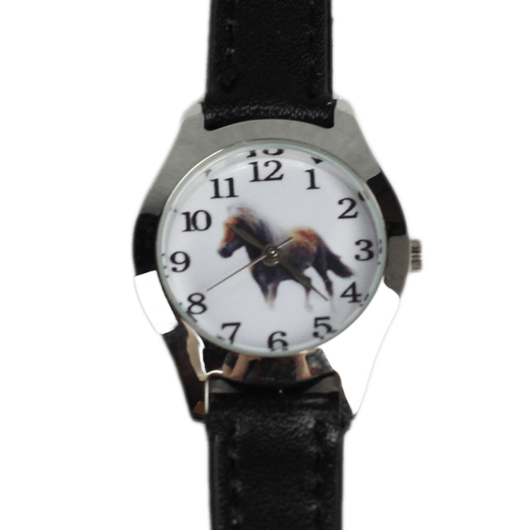 Kinderhorloge Paard - Zwart