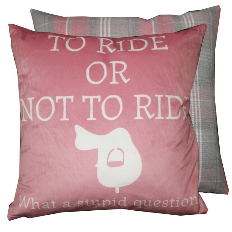 Kussen To Ride Or Not To Ride Fuchsia