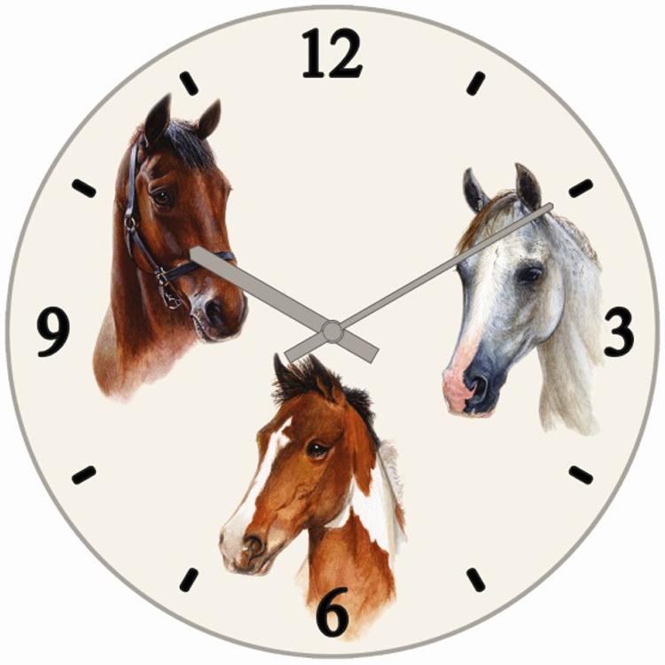 Klok Portret 3 Paarden