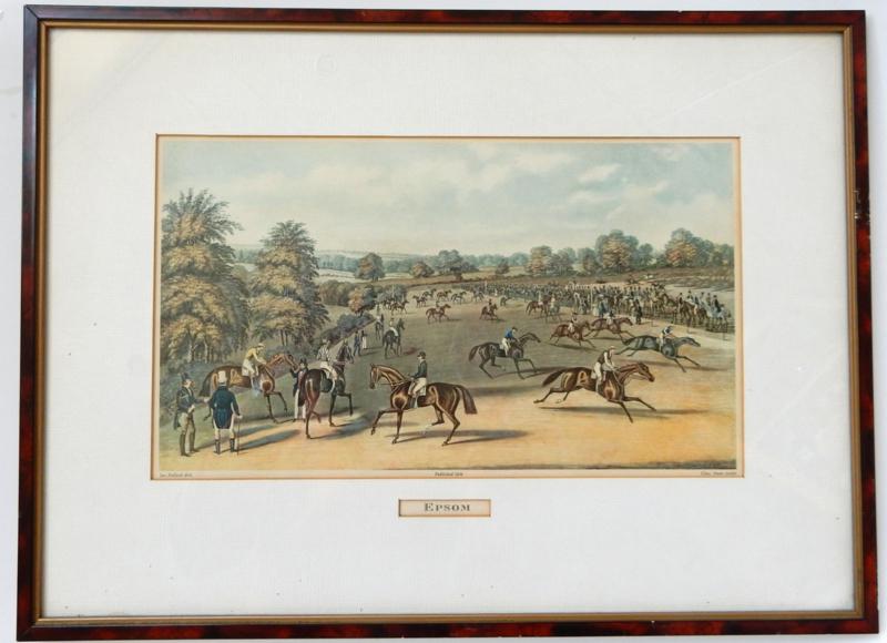 Engelse prent paardenrace.