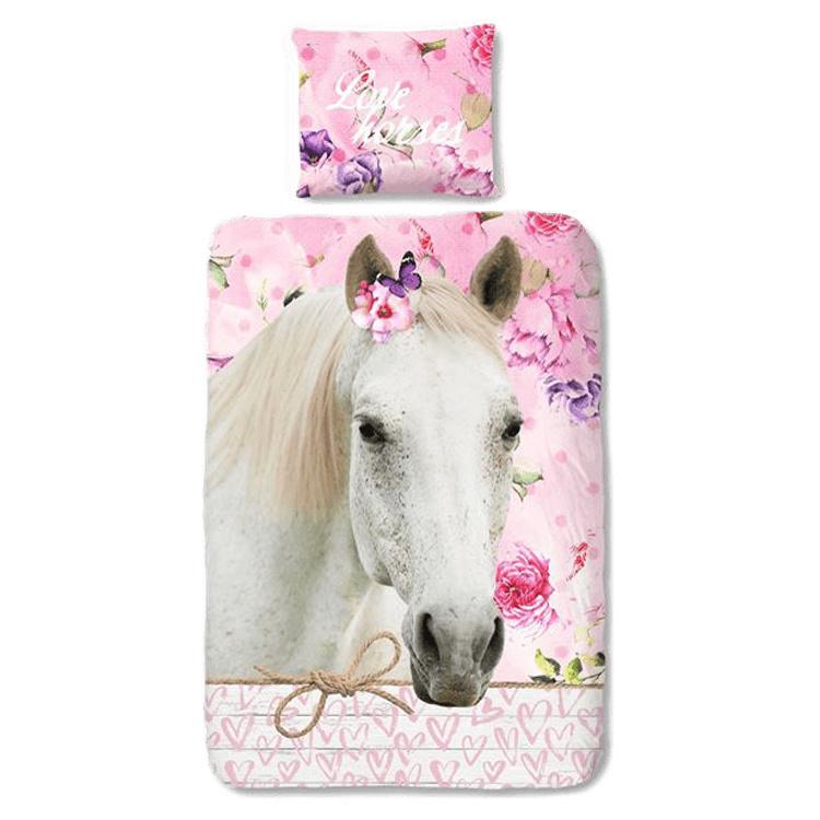 """Paarden """"Love Horses"""" Dekbedovertrek 140x220"""