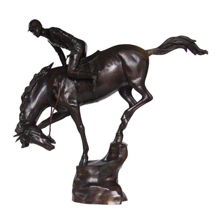 Jockey te paard.
