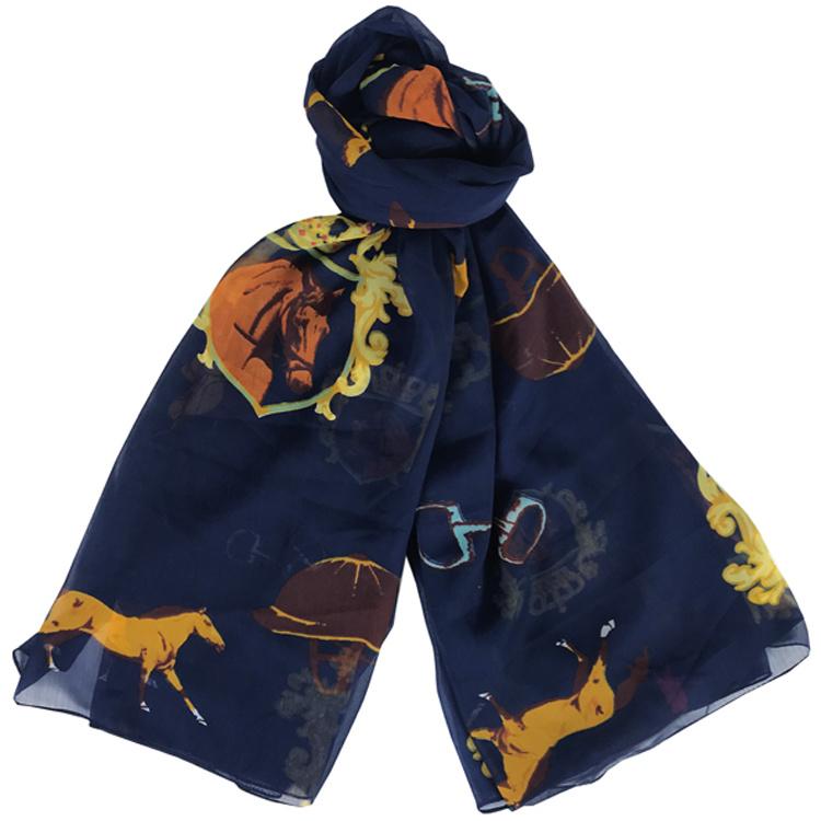 Sjaal Paardensport - Navy